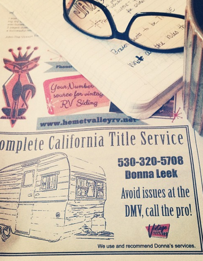 A California Title Service for Vintage Shasta Camper